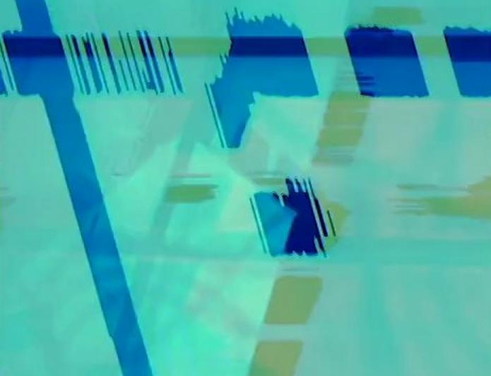 Video Feedback Tests 003 + 003b : Rippling Grids (2013)